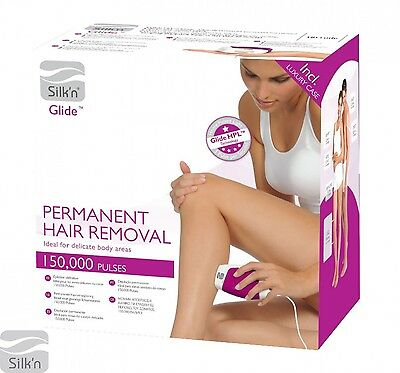Silk'n Glide Permanent Hair Removal Device HPL System with 150000 Light Pulses