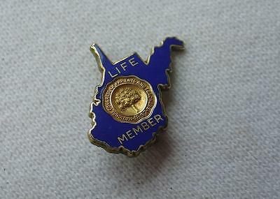 Vtg State Shape Gold Fill Pin National Parents and Teachers Congress Life Member