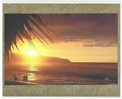 "'lost' Beach Sunset At Kawailoa Haleiwa Hawaii Giclee Photo On 8X10"" Matt Board"