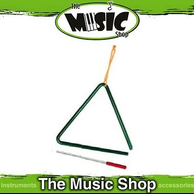 """New Powerbeat 8"""" Musical Triangle with Beater - Metallic Green - UE60GR"""