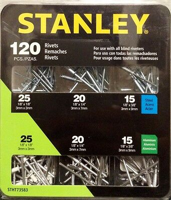 Stanley 120 pc. Assorted Steel & Aluminum Rivits