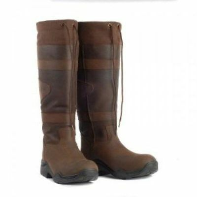 Toggi Canyon waterproof long country boots leather brown walking, casual, riding