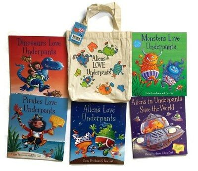 Aliens Love Underpants Collection - 5 Book Set Collection (Free Gift Bag)