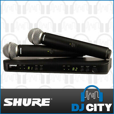 Shure BLX288PG58 Dual Wireless Microphone System Professional Wireless Microp...