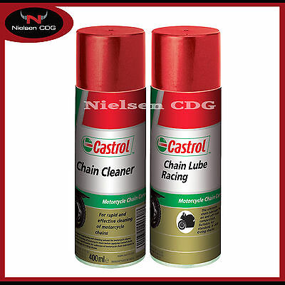 Castrol Chain Lube Racing Motorcycle 400ml + Castrol Chain Cleaner 400ml