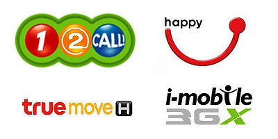300BAHT TOPUP FOR THAILAND 12CALL (AIS) - TRUEMOVE - HAPPY DTAC - IMOBILE