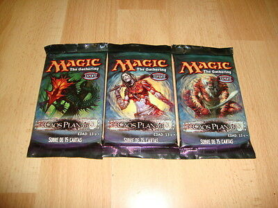 Caos Planar X 3 Sobres De Magic Con 15 Tarjetas Version En Castellano Nuevos