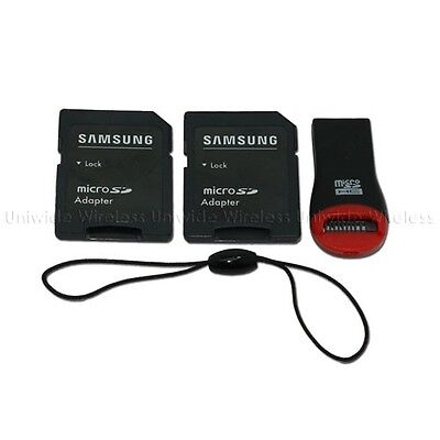 Original Samsung Standard Micro SD Card & Keychain USB Reader Adapter Kit Only