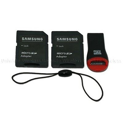 Samsung OEM Standard Micro SD Card & Keychain USB Reader Adapter Kit Only