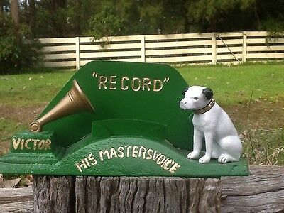 "Vintage Commemrative HMV Shop Counter Advertising Display ""His Masters Voice"""