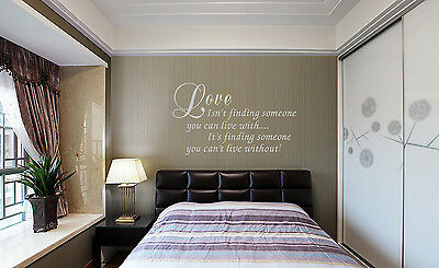 Love Quote can/'t live without Vinyl Wall Art sticker decal UK    SH191