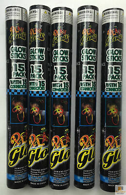 75 GLOW STICKS Party Light Glow In The Dark Rave NECKLACE Disco Bulk New