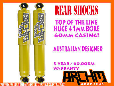 HOLDEN RODEO 2003-2008 RA REAR 41mm BORE FOAM CELL ARCHM4x4 SHOCK ABSORBERS