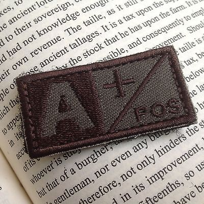 2  Urban Military Blood Type A+ Positive Tactical Army Embroidered PATCH