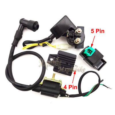 Regulator Rectifier Relay Ignition Coil CDI Chinese ATV Quad 50cc 70 90cc 110cc