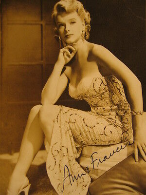 ~1950 Foto Anne Francis Autogramm vintage Sci-Fi signed forbidden planet PIN-UP