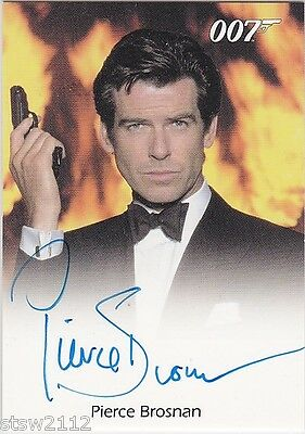 James Bond Mission Logs Pierce Brosnan Goldeneye Autograph *Extremely Limited*