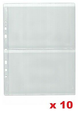 Pages for banknote album - Type 2 - for two notes    x 10 sleeves