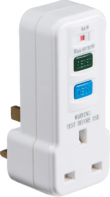 RCD Power Circuit Breaker Socket Safety Switch Plug in Test Reset Switch RCD001