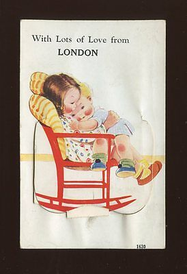 Artist MABEL LUCIE ATTWELL? London Children Pocket Novelty c1930s? PPC