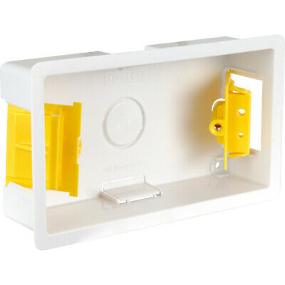 Pack of Five - DLB352 - 35mm 2 Gang Dry Lining Box - Flush Mounting - Knockouts