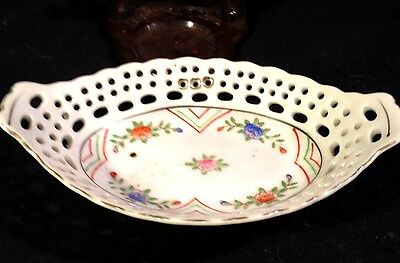 BEAUTIFUL LATTICE PORCELAIN TRINKET OR MINT DISH MADE IN JAPAN