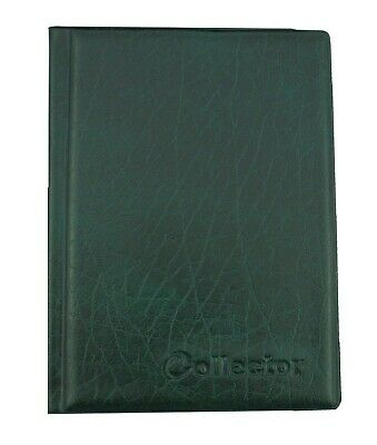 COLLECTOR COIN ALBUM for 108 mix size coins 8 PAGES COINS BOOK FOLDER GREEN