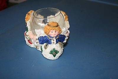 3 Angel Candle Holder with Tea Light - Circa 1995 - New