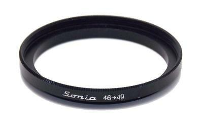 Metal Step up ring 46mm to 49mm 46-49 Sonia New Adapter