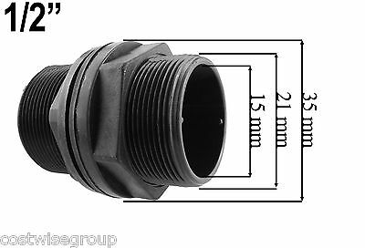 "1/2"" BSPM MDPE Water Pipe, hozelock compatible Storage Tank Water butt connector"