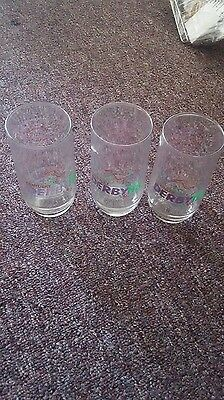 Set of 3 Kentucky derby 118th running glasses