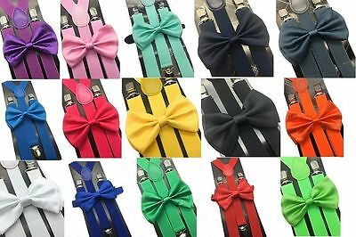 Adult Suspender and Bow Tie Adjustable For Men Women Teen (USA Seller)
