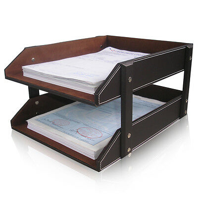 Office A4 Paper Storage Tray Desk Document Files Organiser Assemble 2-trays Rack
