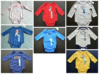 NWT BabyGap Newborn Infant Boy or Girl Long Sleeve Shirt Bodysuit (3-6-12-18-24)