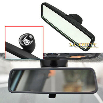 Black Interior Rear View Mirror For VW Bora Golf GTI 4 Passat B5 Lupo Polo Leon