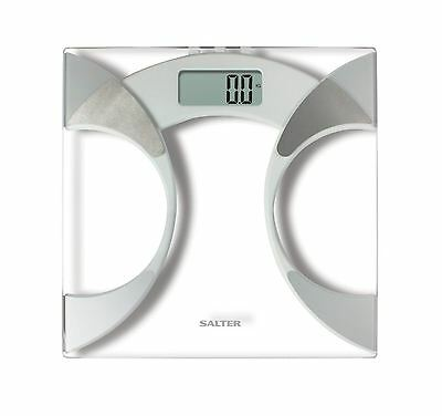 Salter 9141 Glass Body Fat Analyser Home Bathroom Weighing Measuring Scale - NEW