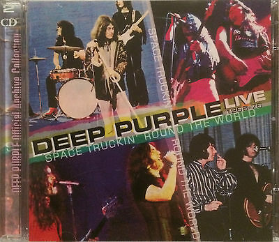 """Deep Purple """"space Truckin' Round The World Live 1968-76"""" Rare Double Live Cd !"""
