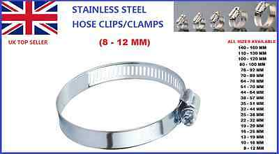 8-12Mm Car Stainless Steel Hose Clips/clamps Pipe Tube Air Gas Fuel Water
