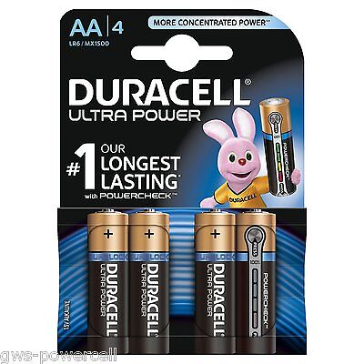 4 x Duracell Ultra Power AA Mignon LR6 MX1500 Batterie Photo Foto - 1 Blister