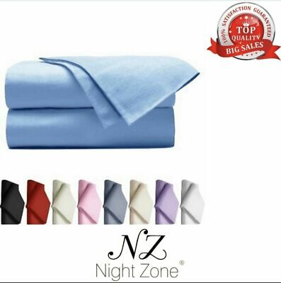 Thermal Flannelette Flat Sheet Brushed Cotton Single Double Super King Size New