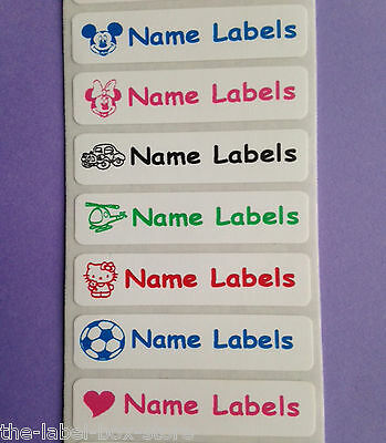 Iron on Identity Personalised Printed Waterproof Name Clothing Label Tags Tapes