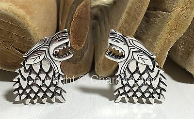 DIRE WOLF House Stark - Pair Of  CUFFLINKS - Game Of Thrones DIREWOLVES UK Stock