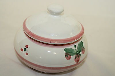 """CALECA HAND PAINTED IN ITALY SUGAR BOWL  """"CAA10"""" PATTERN"""