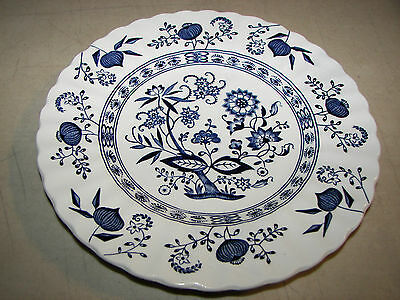 "Vintage Blue Nordic Classic J & G Meakin England 6 7/8"" Dessert/Pie Plate"