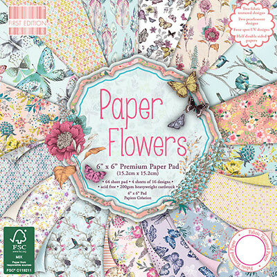 First Edition Paper Flowers 6x6 Premium 64 Sheet Paper Pad FEPAD095
