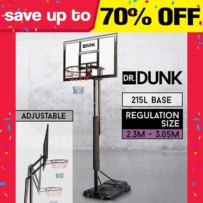 DrDUNK PRO Portable Basketball System Slam Stand Hoop Height Ring Adjustable