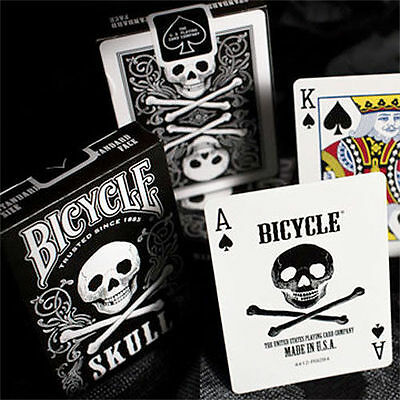 Bicycle Skull Deck - Playing Cards - Magic Tricks - New