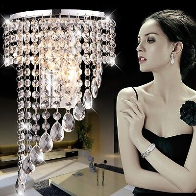 Fuloon Modern Luxury K9 Crystal LED Wall Light Wall Fixture Hallway Stairs Lamps