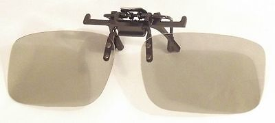 One Pair Passive Universal 3D Flip Up Clip on Glasses for Prescription Eyewear