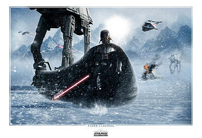 Star Wars Celebration 7 Anaheim Art Print Scott Harben Darth Vaders Landing /250